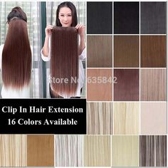 """Cheap clip in hair extensions wholesale, Buy Quality clip in curly hair directly from China clip on desk lamp Suppliers:        Fast Shipping Long Straight Natural Hair Extensions 20""""inch(50cm) 7Pcs  Real Person's Hair Black Brown Blonde Col"""