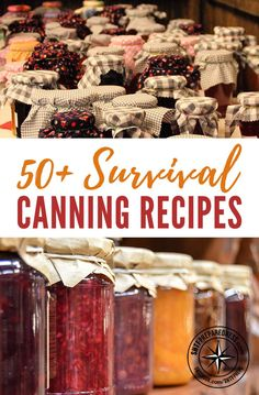 50+ Survival Canning Recipes - Canning is probably my most favorite way of preserving food. I love saving money and this is a great way to do just that! Get a great selection of over 50 canning recipes that can be very valuable in any emergency situation.