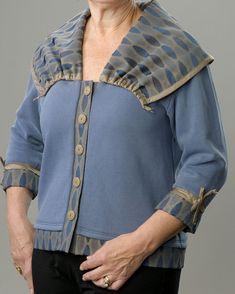 Denim-Colored Tailored Sweatshirt Jacket with Large Collar, Sweatshirt jacket for ladies, Women's sweatshirt jacket. https://www.etsy.com/listing/271949652/denim-colored-tailored-sweatshirt-jacket?ref=listing-shop-header-1