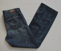 Adriano Goldschmied AG Hero Jeans 36 34 Relaxed Destructed Straight Denim  #AGAdrianoGoldschmied #Relaxed
