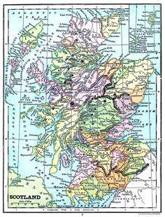 Instant Art Printable - Map of Scotland