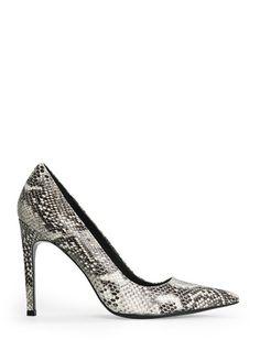 Snakeskin leather stiletto shoes