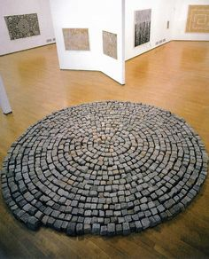 Richard Long: WARLI SPIRAL - AN EXHIBITION WITH JIVYA SOMA MASHE PADIGLIONE D'ARTE CONTEMPORANEA  MILAN 2004