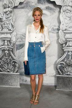 denim skirt- inspiration // Poppy Delevingne
