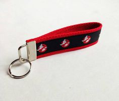 Check out this item in my Etsy shop https://www.etsy.com/listing/230051790/ghost-busters-key-fob-keychain-wristlet