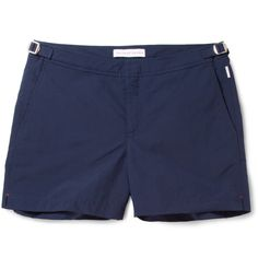 Neatly tailored for a streamlined fit, these navy swim shorts by Orlebar Brown make a sophisticated holiday staple. Pair them with a fresh white tee and old school low top sneakers for a sleek and sporty look wherever you are in the world.