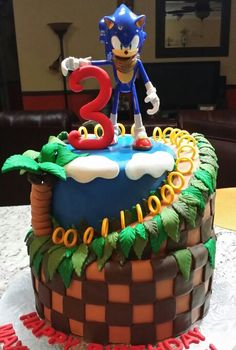 Sonic the Hedgehog Birthday Cake by Jenny Marie