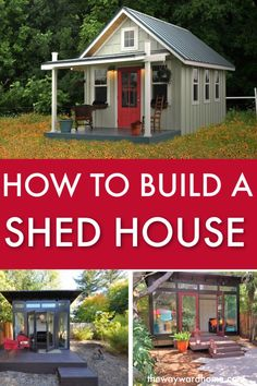 Building A Shed 290974825926759948 - A simple backyard garden shed can be turned into a gorgeous tiny home. Check out how to turn a shed into a house. You can either do a diy tiny home or buy a prefab shed to turn into a house. Tiny House Movement, Prefab Sheds, Prefab Tiny Houses, Shed Construction, Build Your Own Shed, Build House, Firewood Shed, Shed Homes, Tiny Homes