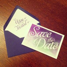 Watercolour Wedding Save The Date by LilLovebirdPaperie on Etsy, £28.00
