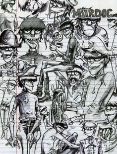 Murdoc Sketches by Murdoc Gorillaz, Gorillaz Art, Gorilla Band, Sunshine In A Bag, Darkside, Russel Hobbs, Love Is Free, Art Challenge, Ship Art