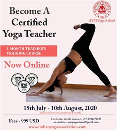We are announcing the next online batch of our most popular One Month Teacher Training Course for the month of July. This 200 hours teacher training program provides a basic certificate in Yoga. Students can teach Yoga techniques to healthy adults and The course covers theoretical and practical aspects of Yoga. The syllabus also consists of experiential learning of unique techniques & concepts pioneered by the founders of AYM Yoga School. #Yoga #AYUSH #OnlineYoga #AYM #OnlineYTTC #fitness