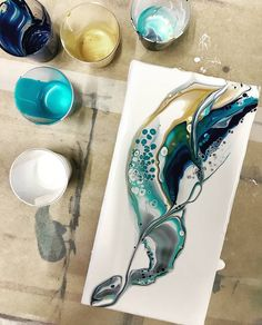 esting out a new silicone for more dramatic cells, ended up finding a new favourite colour combination 😊 repost . ) ) esting out a new silicone for more dramatic cells, ended up finding a new favourite colour combination 😊 repost . Flow Painting, Pour Painting, Diy Painting, Art Resin, Acrylic Resin, Resin Crafts, Acrylic Pouring Art, Alcohol Ink Art, Fluid Acrylics