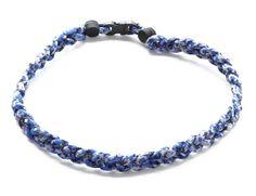 """Wholesale Lot of 12 Titanium Tornado Sports 20/"""" Navy Blue Orange Necklaces"""