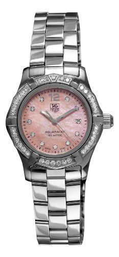 7de13edf097 TAG Heuer Womens WAF141BBA0824 Aquaracer 27mm Stainless Steel Diamond  MotherofPearl Dial Watch   Learn more by