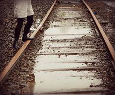 #railroads #reflections #water #boots