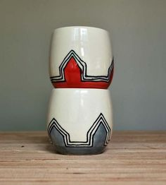 Li'l Yunomi Red & Grey Stoneware Cups – Set of 2 | Home Dining & Barware | Toast Ceramics | Scoutmob Shoppe | Product Detail