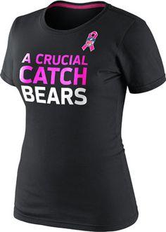 Chicago Bears Women's Black Nike Breast Cancer Awareness Attitude T-Shirt