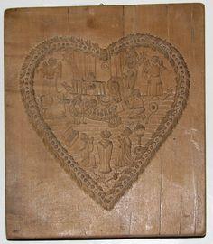 Altes schönes Holzmodel Springerlemodel beidseitig geschnitzt