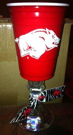 Razorback Red Solo Wine Cup. $10.00, via Etsy.