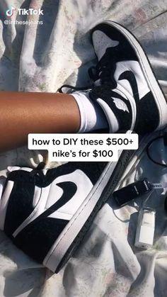 Cute Nike Shoes, Cute Nikes, Nike Air Shoes, Nike Sneakers, Jordan Shoes Girls, Girls Shoes, Teen Fashion Outfits, Diy Fashion, Fashion Styles