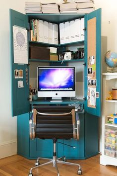 @ Leisa.... would something like this work???    Hidden Office Space | Delighted Studio {Blog}