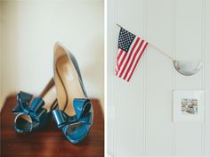 Blue Valentino Bow Heels | Nautical Wedding | Newport Harbor Yacht Club Wedding | Sugar Branch Events | Sargeant Photography