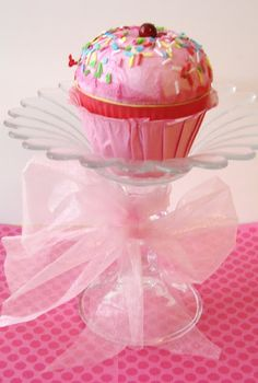 Cupcake stands from dollar store candle holders