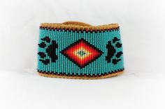 Native American bracelet - with wolf paw prints