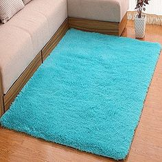 Amazon.com: YOFAN 2.3-Feet By 5.2-Feet Modern Shag Area Rug,Super Soft Living Room/Bedroom/Kitchen Carpet,Wool Length 1.6inch (green): Kitchen & Dining