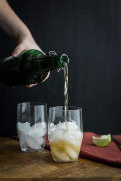 Ginger Lime Fizz with Ginger Beer | @naturallyella non-alcoholic, but ...
