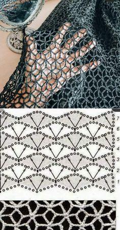 Gilet Crochet, Freeform Crochet, Crochet Diagram, Crochet Instructions, Crochet Shawl, Diy Crochet, Crochet Crafts, Crochet Motif, Crochet Doilies
