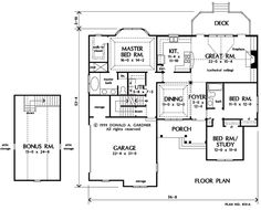 French Country style house blueprint ****1/2 | Blue prints ...
