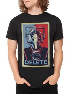 Doctor Who Cyberman Delete T-Shirt | Hot Topic