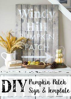 DIY Pumpkin Patch Sign Tutorial + Template   Bless'er House
