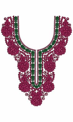 9737 Neck Embroidery Design
