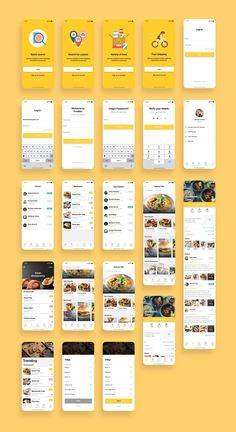 Foodiez Restaurant App UI Kit — UI Place Foodiez Restaurant App UI Kit is a pack of 40 delicate UI design screen templates that will help you to design clear interfaces for restaurants app faster and easier. Compatible with Sketch App, Figma & Adobe XD Ios App Design, Mobile Ui Design, Android App Design, Dashboard Design, User Interface Design, Mobile App Design Templates, Wireframe Design, Mobile Ui Patterns, Web Mobile