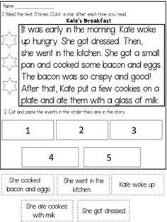 4 Reading Comprehension Worksheets for Story Sequencing Reading Passages √ Reading Comprehension Worksheets for . 4 Reading Comprehension Worksheets for May Printables First Grade Literacy and Math First Grade Reading Comprehension, Reading Comprehension Worksheets, 2nd Grade Reading, Reading Fluency, Reading Passages, Reading Strategies, Reading Skills, Teaching Reading, Guided Reading