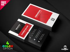 Creative Business Card Template PSD Set by Mohammed Asif