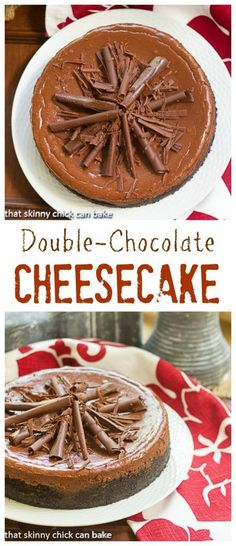 Double Chocolate Cheesecake | When you need a chocolate desserts that will make jaws drop! @lizzydo