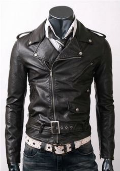 Handmade New Men Brando Style Slim Fit Leather by SupremeWear, $129.00