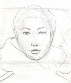 Laura Volpintesta fashion face sketch WWW
