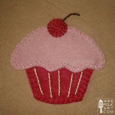 Free Cupcake applique pattern