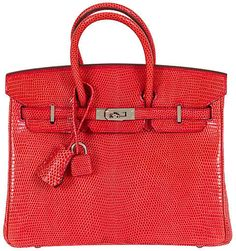 047ae42c379c One Kings Lane Vintage Hermès Rouge Lizard 25cm Birkin Bag Hermes Birkin