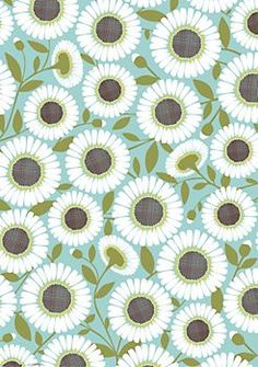 would be pretty just to frame. Pool Daisy Wrapping Paper
