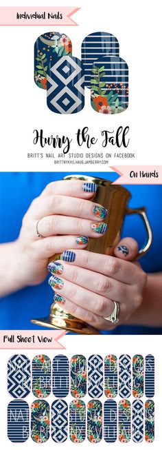 Hurry the Fall Nail Wraps. It's easy to fall in love with these - just head over…