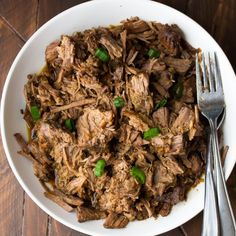 Slow Cooker Honey Garlic Beef made with only 7 ingredients. And 3 ideas to use up your leftovers!