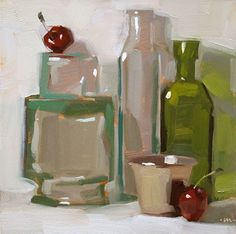 Carol Marine's Painting a Day: she loves to paint and painted this beautiful still life in a day! Oh, how I wish I could do this!