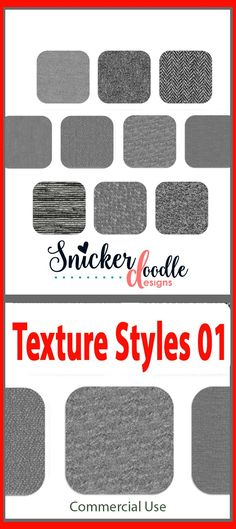 This is a set of 10 different textures, provided in .asl and PSD formats. Add texture to your text or elements with the quick click of your mouse.  #SnickerdoodleDesigns  #digitalscrapbooking #TextureStyles01  https://snickerdoodledesignsbykaren.com/shop/index.php?main_page=product_info&cPath=61&products_id=1616