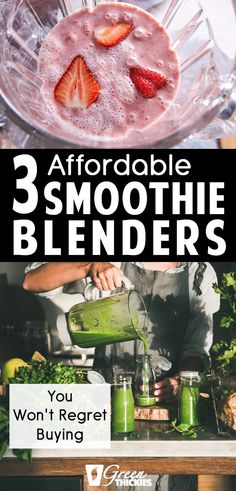 In the past I've not made good decisions about blenders so it was good to hear from someone else's point of view which blenders are the best for making smoothies. Protein Fruit Smoothie, Best Smoothie Blender, Best Green Smoothie, Smoothie Prep, Fruit Smoothie Recipes, Smoothie Ingredients, Fruit Recipes, Whole Food Recipes, Healthy Recipes