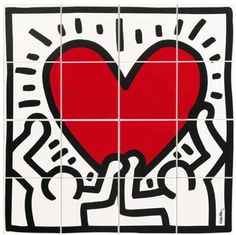 Keith Haring by Ascot. Ceramic wall tiles inspired by the king of pop art. Keith Allen, Art Auction Projects, Pop Art, Keith Haring Art, O Portal, Arte Pop, American Artists, Diy Painting, Ascot